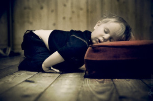 Young boy sleeping
